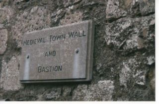 town wall plaque