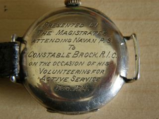 brock watch inscription