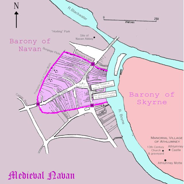map town walls and medieval town